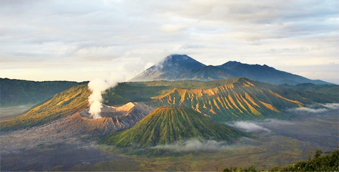 Enjoy trekking to the steaming calderas of three active volcanoes