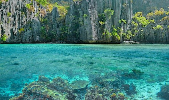 Go snorkelling in the crystal clear waters of El Nido