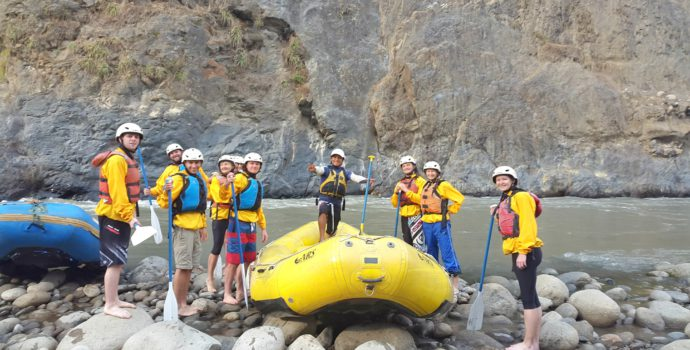 Go on an adventurous rafting experience down the Urubamba river