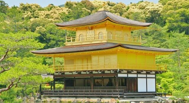 Visit the unique Kinkaku-ji temple, completely coated in gold