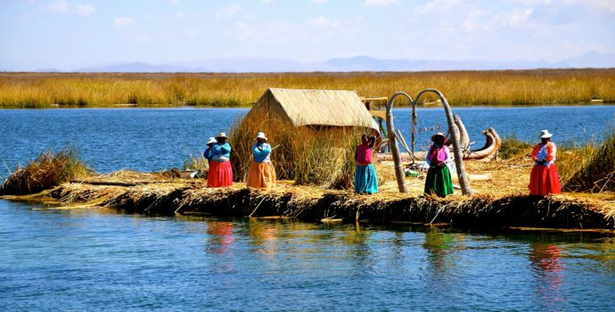 See the local way of life on the Uros floating islands