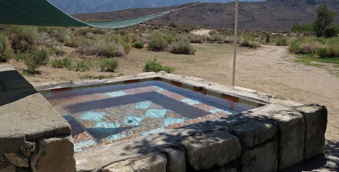 Relax in the hot springs & take in the gorgeous scenery of the eastern Sierras